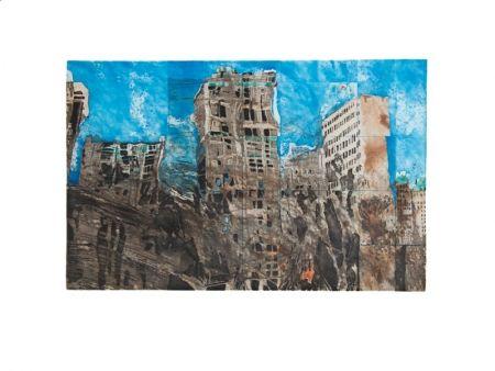 Офорт И Аквитанта Salzmann - New York Reflexion 2004
