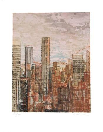 Офорт И Аквитанта Salzmann - New York rose