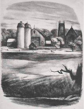 Литография Spruance - Newtorn Towers