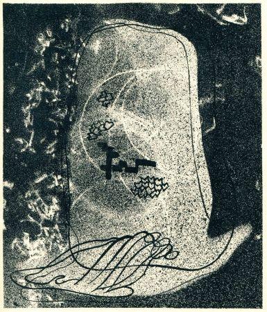 Литография Styrsky -  NEZVAL (Vitezslav). Zidovsky hrbitov (Le Cimetière juif).