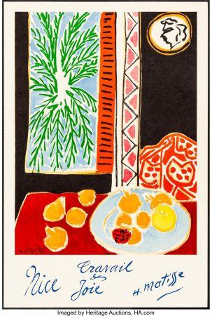 Литография Matisse - Nice, Travail et joie