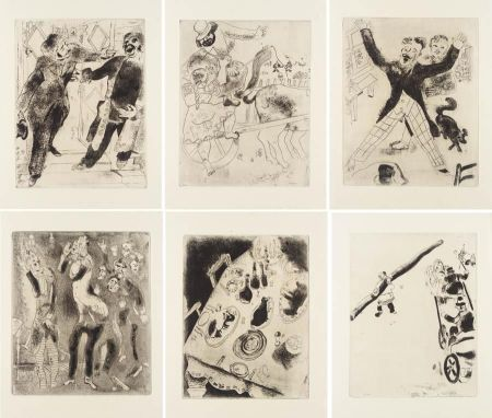 Иллюстрированная Книга Chagall - Nicolas Gogol : LES ÂMES MORTES. Eaux-fortes originales de Marc Chagall