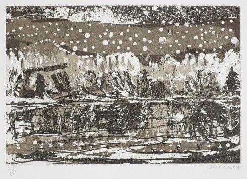 Офорт И Аквитанта Doig - Night Fishing