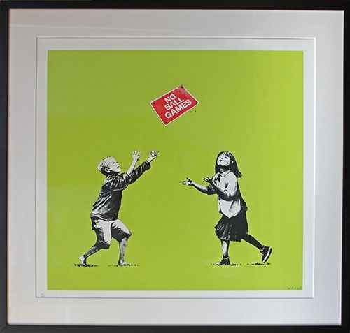 Сериграфия Banksy - No Ball Games (Green)