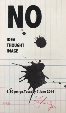 Сериграфия Kentridge - No Idea Thought Image