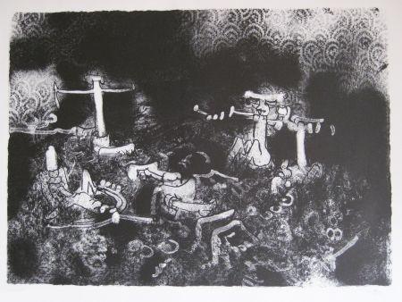 Литография Matta - Non vedi tu la morte che l combatte