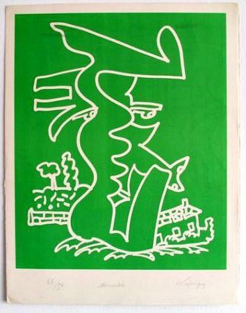 Литография Lapicque - Normandie