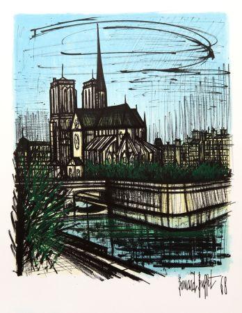 Литография Buffet - Notre Dame