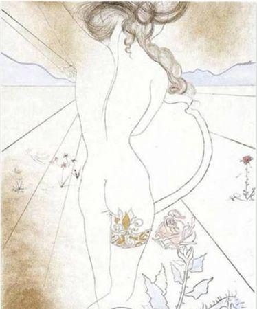 Сериграфия Dali - Nu a la Jarretiere (Nude with Garter)