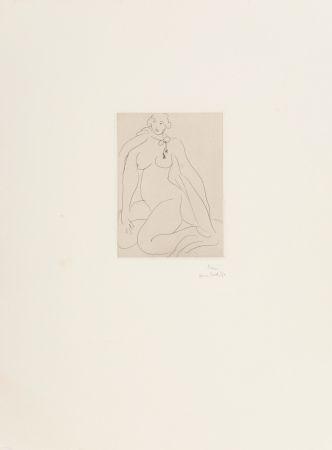 Гравюра Matisse - Nu Accroupi, Une Cordeliere Nouee Autour du Cou