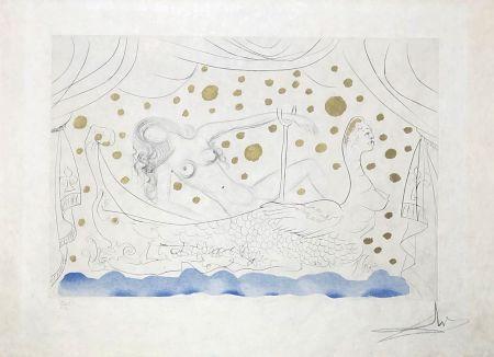 Гравюра Dali - Nu au bain