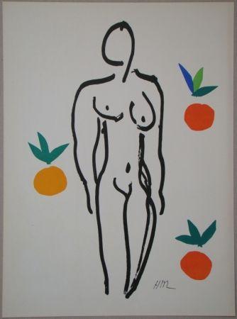 Литография Matisse - Nu aux oranges