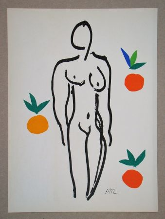 Литография Matisse (After) - Nu Aux Oranges - 1953