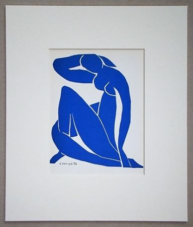 Литография Matisse (After) - Nu bleu - 1952
