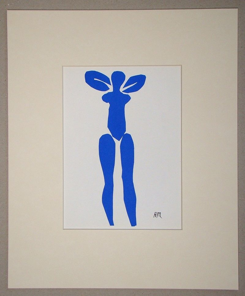 Литография Matisse (After) - Nu bleu debout - 1952