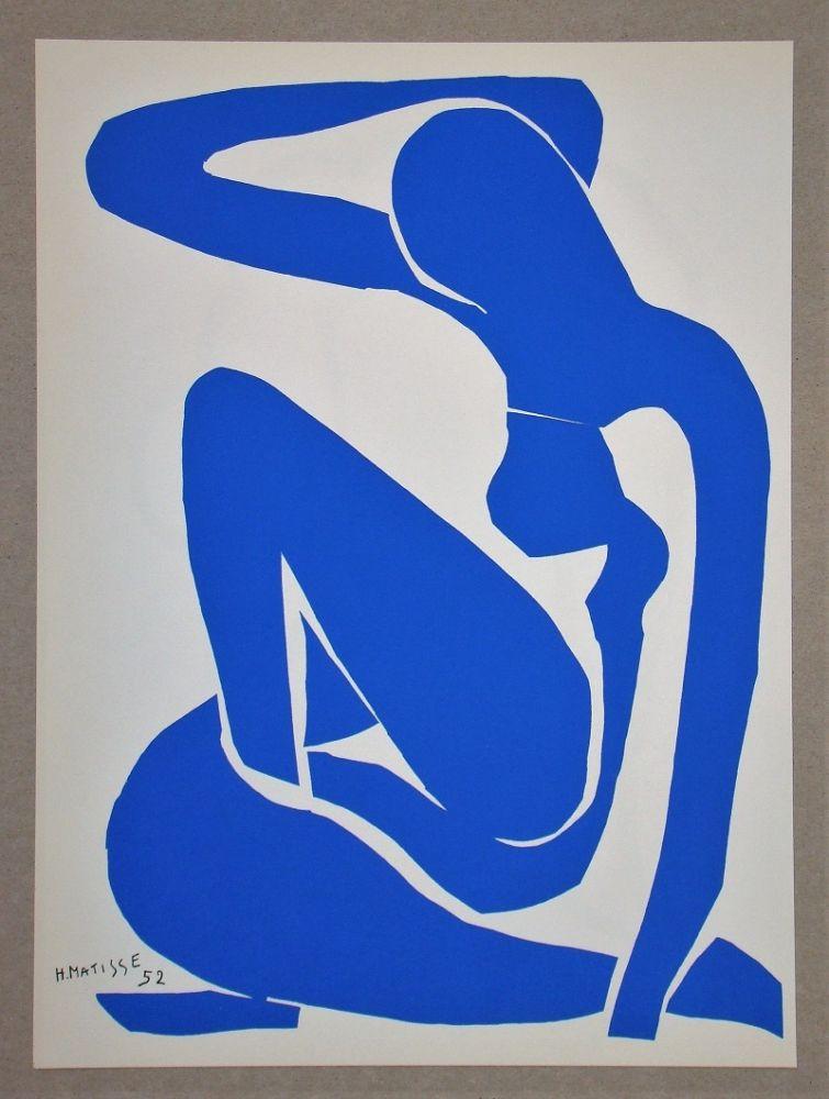 Литография Matisse (After) - Nu bleu I.-1952
