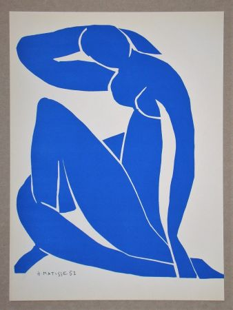 Литография Matisse (After) - Nu bleu II.-1952
