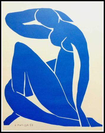 Литография Matisse (After) - NU BLEU II