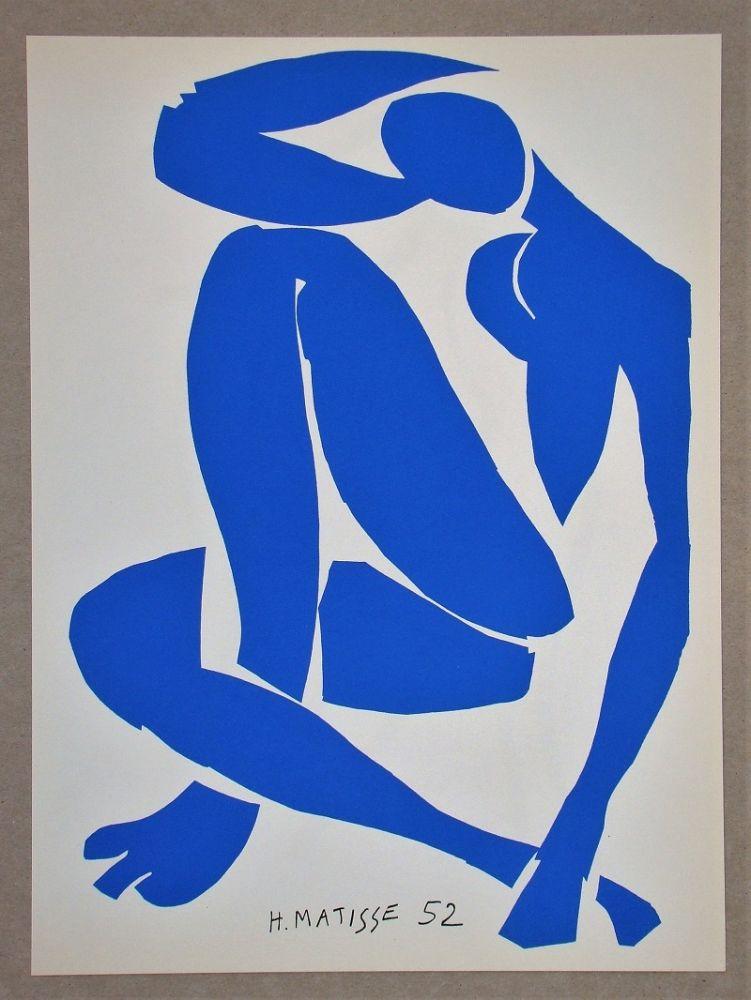 Литография Matisse (After) - Nu bleu IV.-1952