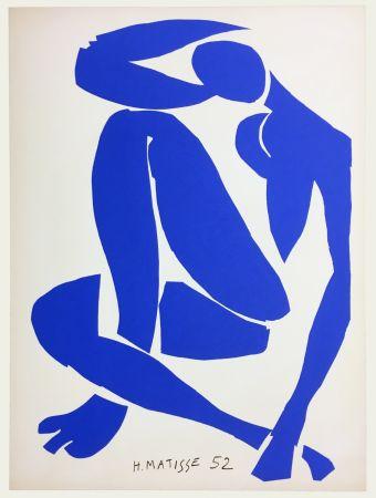 Литография Matisse - Nu Bleu IV (1958)