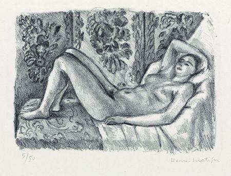 Литография Matisse - Nu couché au paravant Louis XIV