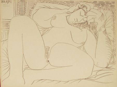Литография Picasso - Nu Couché I