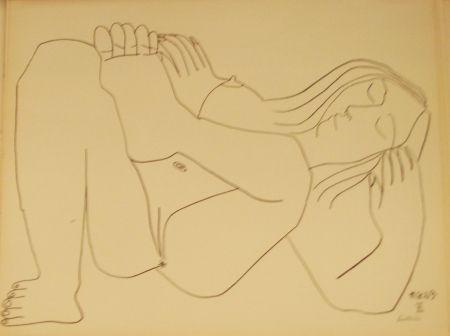 Литография Picasso - Nu Couché II