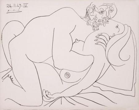 Литография Picasso - Nu Couché IV