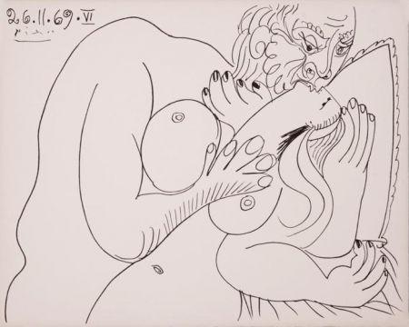 Линогравюра Picasso - Nu Couché VI