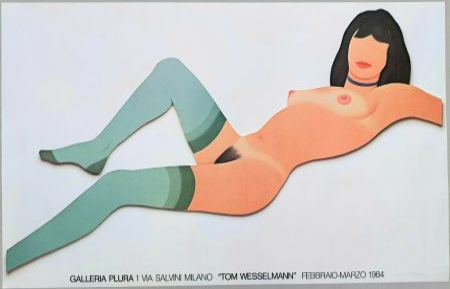 Литография Wesselmann - Nude