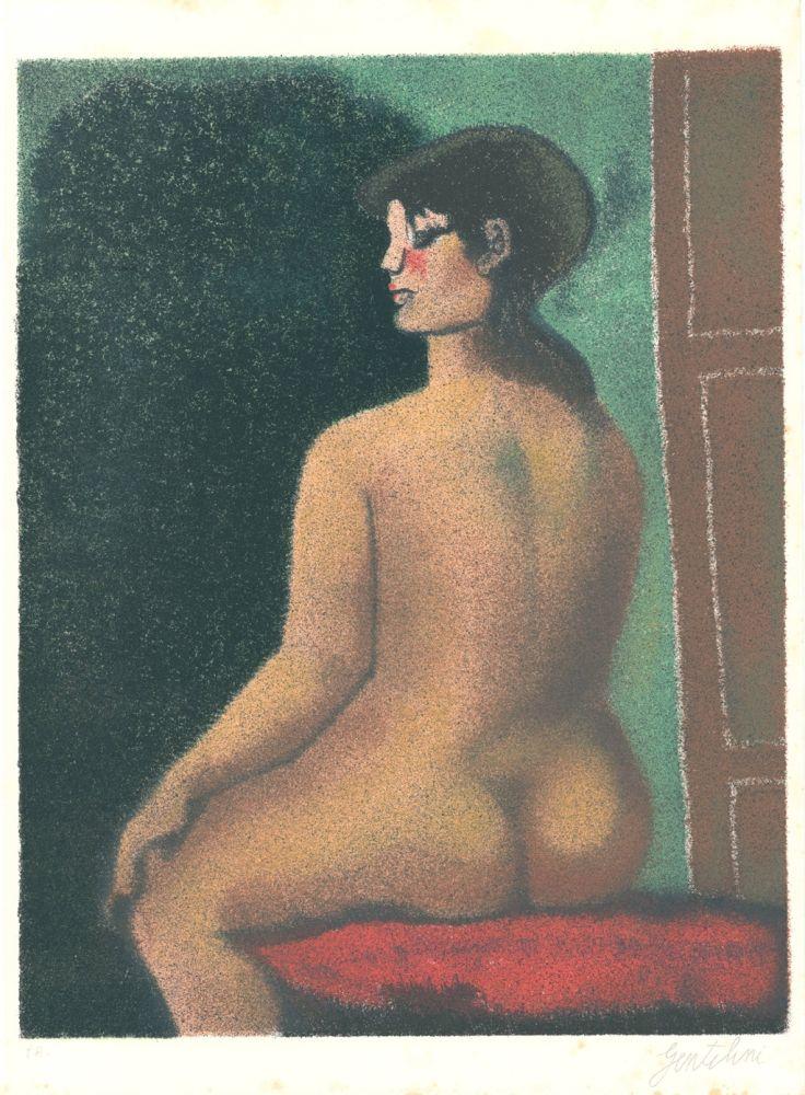 Литография Gentilini - Nudo di Luisa