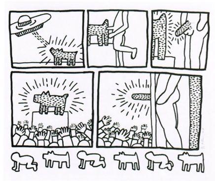 Многоэкземплярное Произведение Haring - Number 13 from