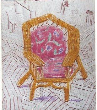 Сериграфия Hockney - Number one chair