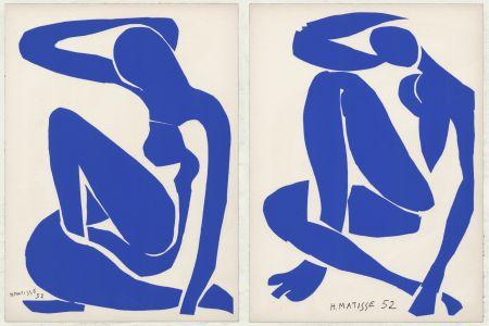 Литография Matisse - Nus Bleus III et IV (1958)