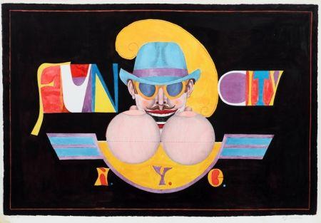 Литография Lindner - NY Men (Fun City)