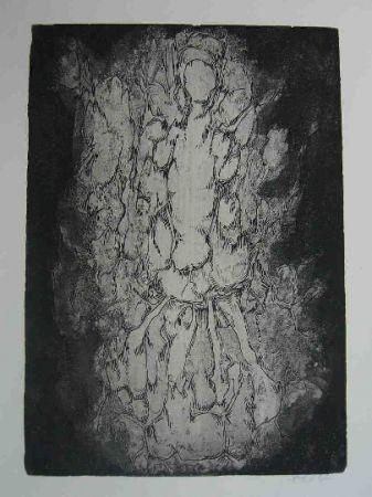 Офорт Gillet - Nymphe des rats