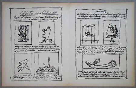 Литография Giacometti - Objets mobiles