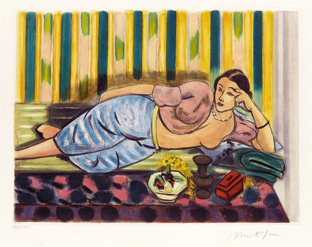 Акватинта Matisse - Odalisque au Coffret Rouge (Odalisque with Red Box)