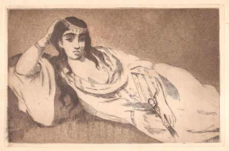 Офорт И Аквитанта Manet - Odalisque (L'odalisque couchée)