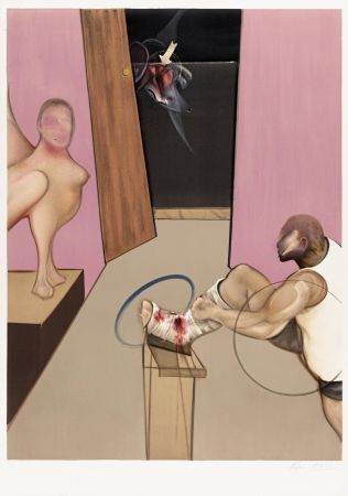 Литография Bacon - Oedipe et le Sphinx after Ingres