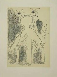 Офорт И Аквитанта Cocteau - Oedipe roi