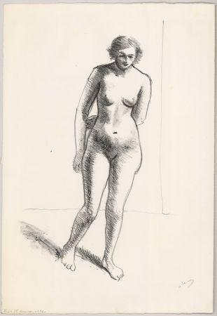 Литография Derain - Ohne Titel (Nu, le bras replié derrière le dos)
