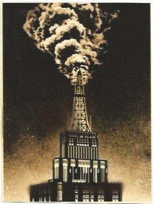 Сериграфия Fairey - Oil & Gas Building