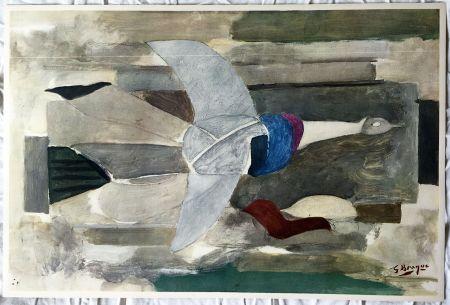 Литография Braque - Oiseau en vol (1953)