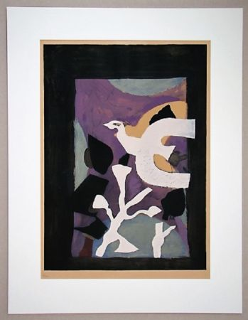 Литография Braque - Oiseau Et Lotus