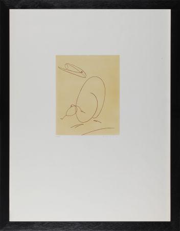 Офорт Ernst - Oiseau mére