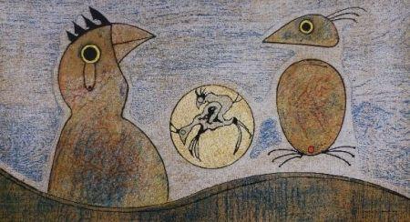 Литография Ernst - Oiseaux