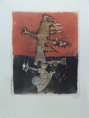 Офорт И Аквитанта Friedlaender - Oiseaux