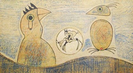Литография Ernst - Oiseaux / Birds