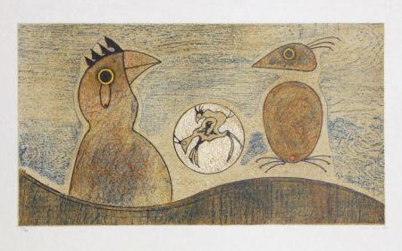 Литография Ernst - Oiseaux Souterrains